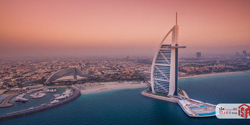 نمای هتل برج العرب دبی