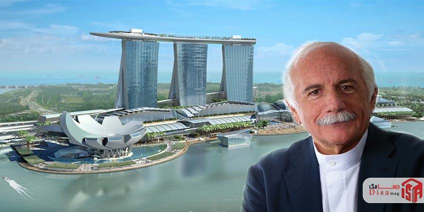 موشه سفدی و هتل مارینا بای سندز سنگاپور