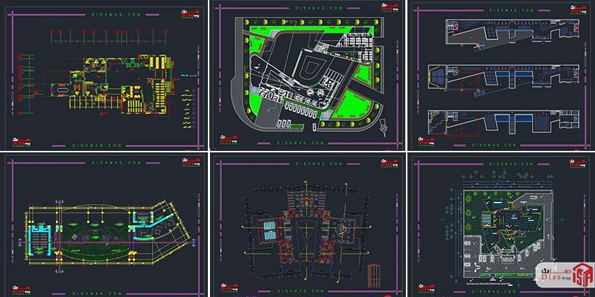 اسکرینشات مجموعه 20 نمونه پلان کتابخانه