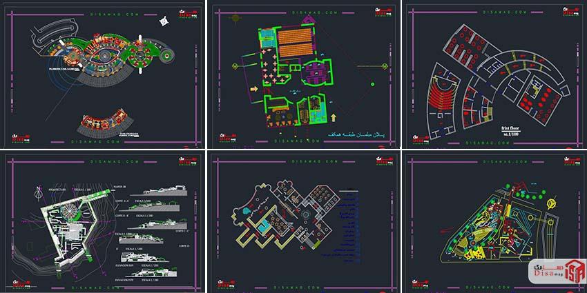 اسکرینشات مجموعه 20 نمونه پلان موزه 3