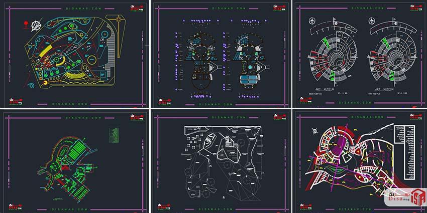 اسکرینشات مجموعه 20 نمونه پلان موزه 2