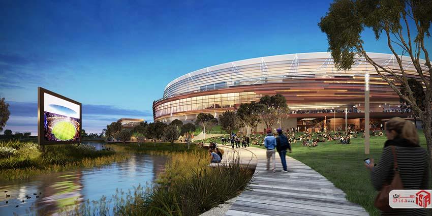 طراحی پلان استادیوم فوتبال