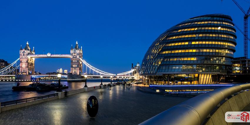 نمای خارجی تالار شهر لندن