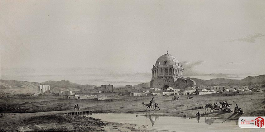 عکس قدیمی گنبد سلطانیه