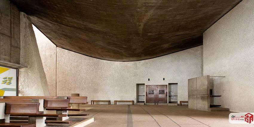 سقف کلیسای رونشان لوکوربوزیه