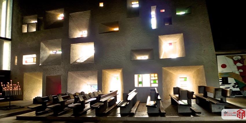 دیوارها کلیسای رونشانلوکوربوزیه