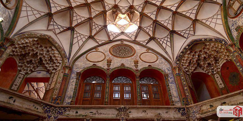 معماری خانه بروجردیها کاشان