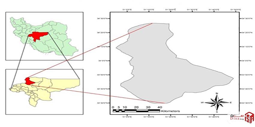 موقعیت شهر کاشان