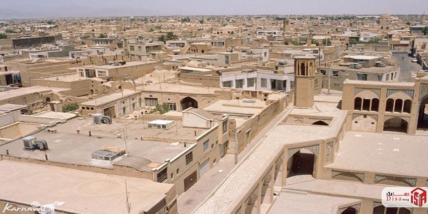 عکس هوایی شهر کاشان