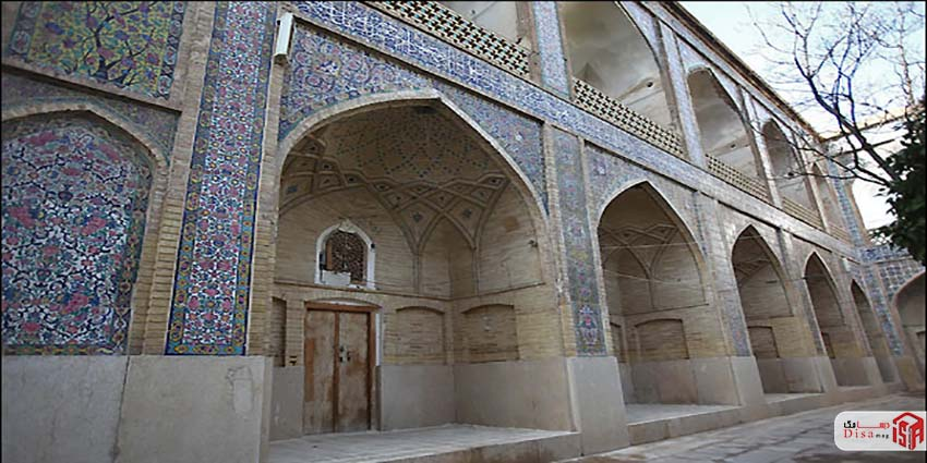 معماری مدرسه خان شیراز 5