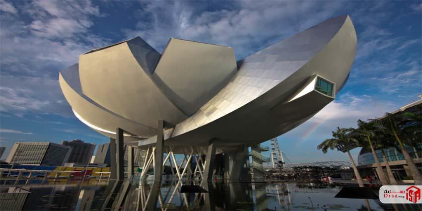 نمای موزه هنر علم سنگاپور