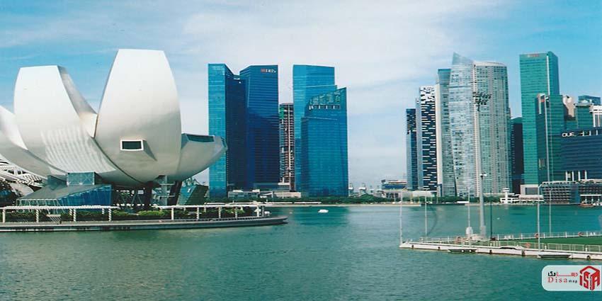 نمای دور موزه هنر علم سنگاپور