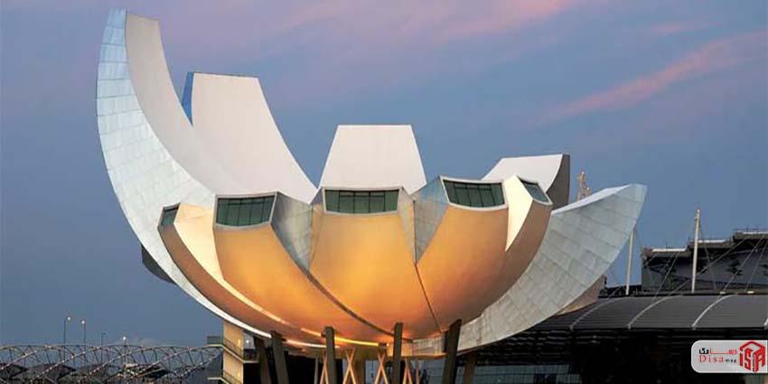 بدنه معماری موزه هنر علم سنگاپور