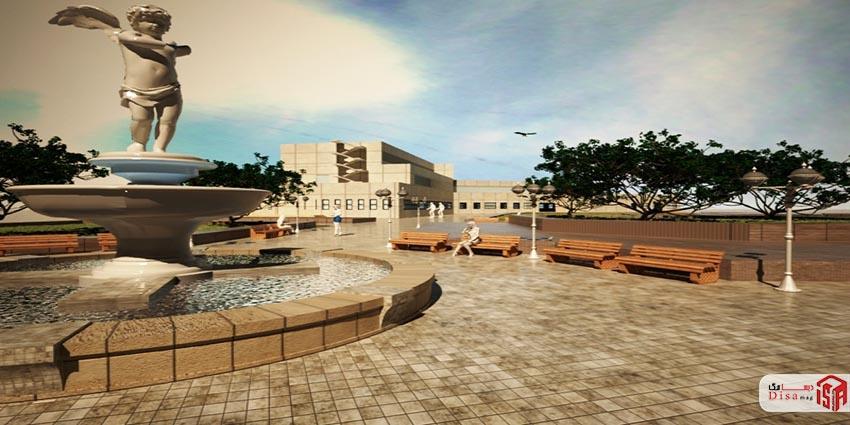 محوطه پروژه کامل بیمارستان