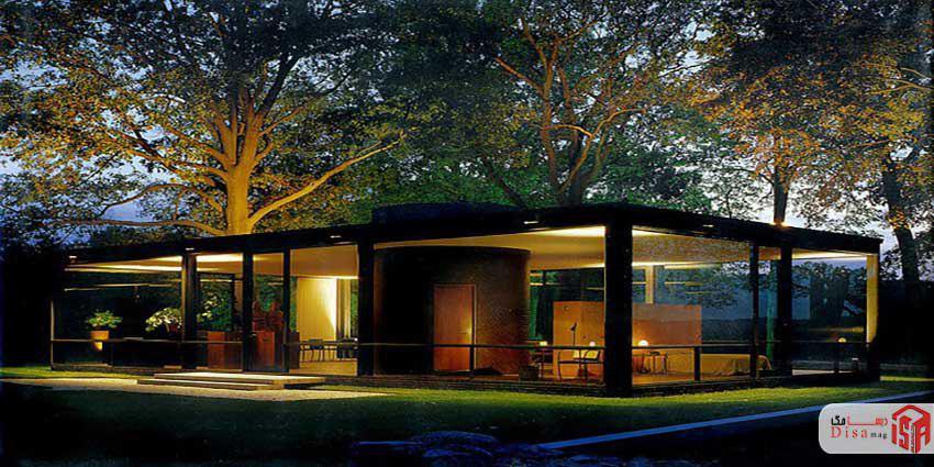 معماری خارج خانه شیشهای جانسون