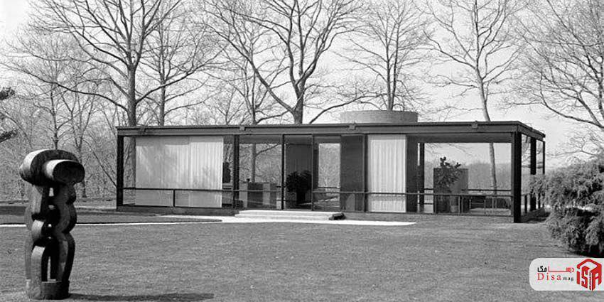 تاریخچه خانه شیشهای فیلیپ جانسون