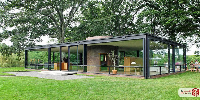 معماری خانه شیشهای فیلیپ جانسون