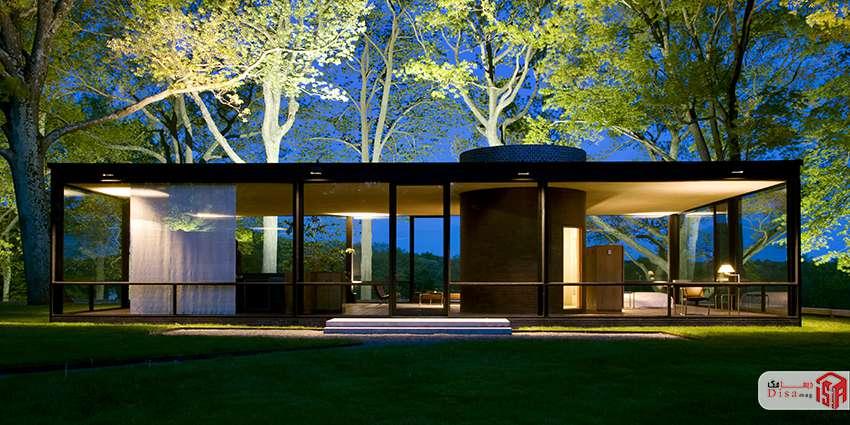 معماری خارج خانه شیشهای جانسون 1
