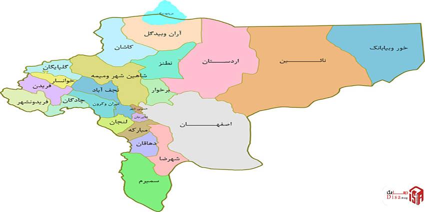 موقعیت منطقه ای شهر کاشان