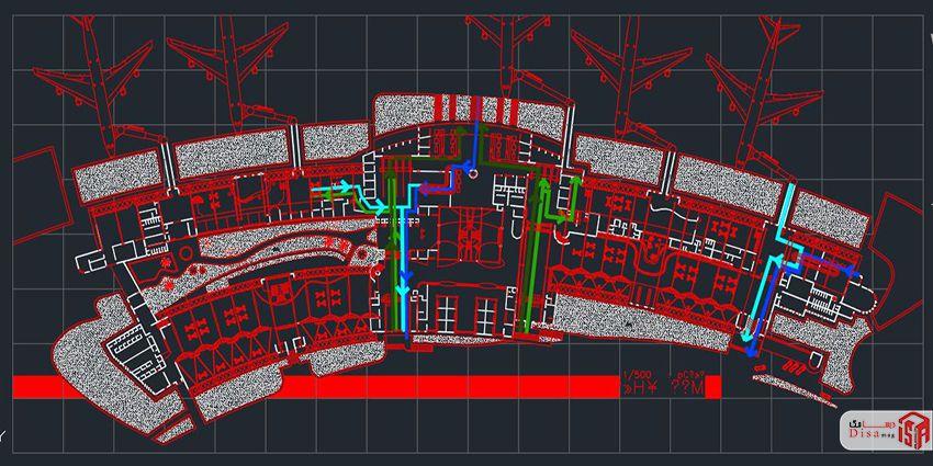 اسکرینشات پلانهای پروژه کامل فرودگاه