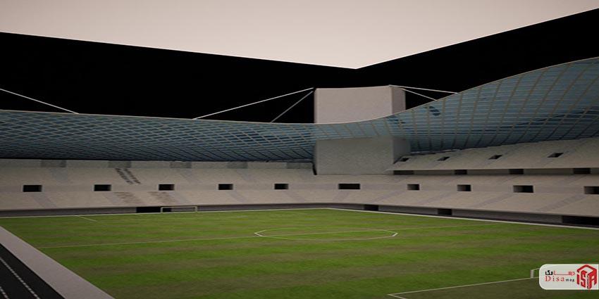 رندر داخلی پروژه استادیوم فوتبال